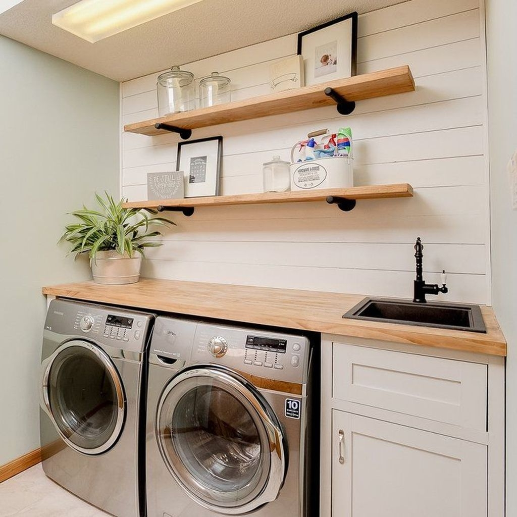 30+ Charming Small Laundry Room Design Ideas For You ... on Small Laundry Ideas  id=24452