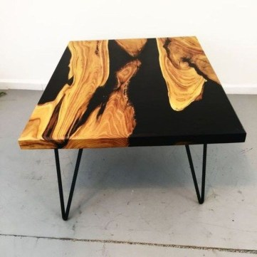 Classy Resin Wood Table Ideas For Your Furniture12
