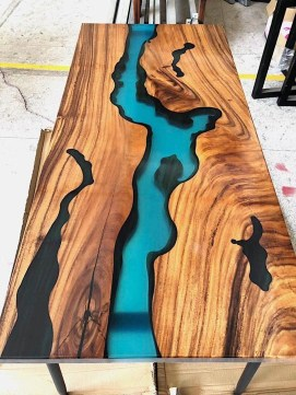Classy Resin Wood Table Ideas For Your Furniture13