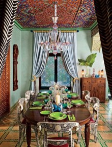 Unordinary Dining Room Design Ideas With Bohemian Style33