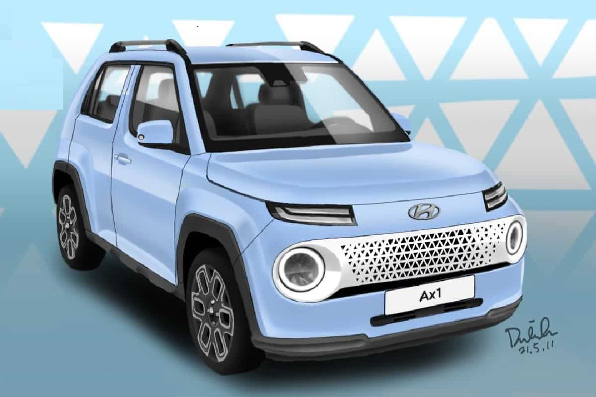 The Hyundai AX1 small SUV will make its official debut soon, competing with the Tata HBX