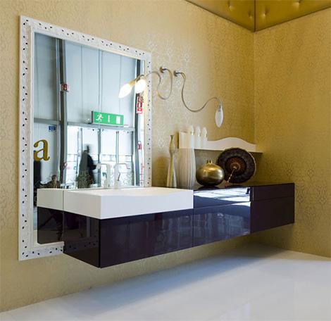 Cerasa Eden bath vanity in dark purple finish