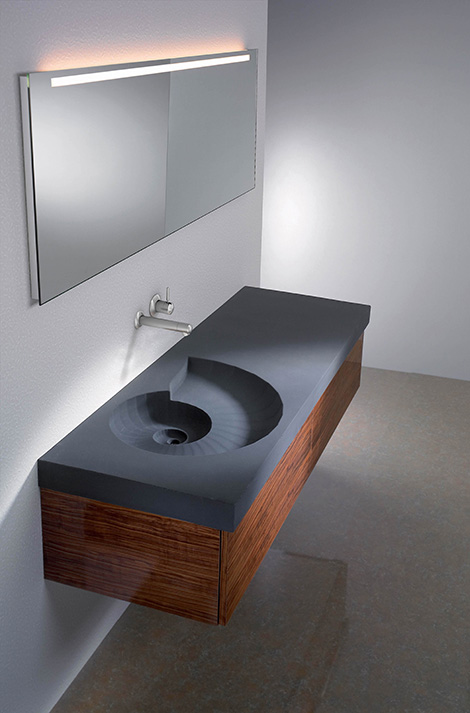 HighTech concrete washbasin