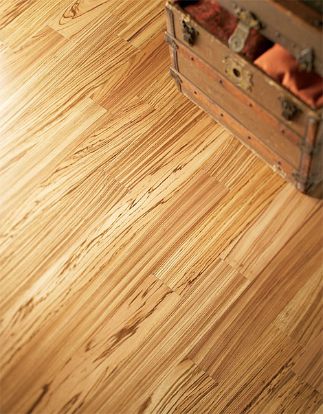 Exotic flooring by Mullican - Zebrawood engineered