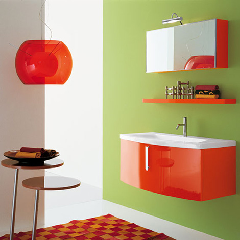 Novello vanity Green - Red composition