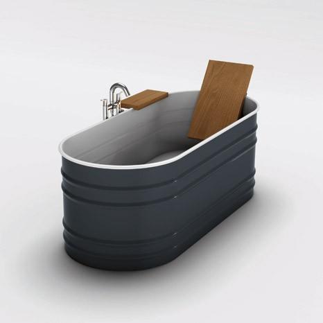 Steel tub from Agape Vieques VAS911