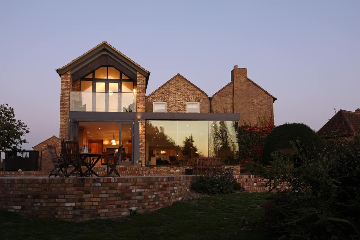 Modern Glass Addition to otherwise Traditional Home ... on Modern Glass House Design  id=59007
