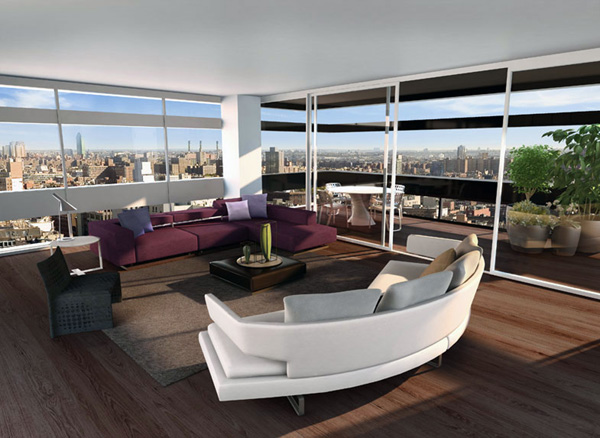 Modern Rooftop Loft At Five Franklin Place In New York