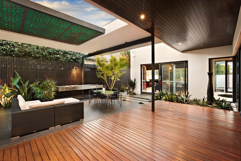 Indoor outdoor house design with alfresco terrace living ... on Outdoor Living Designer id=56631