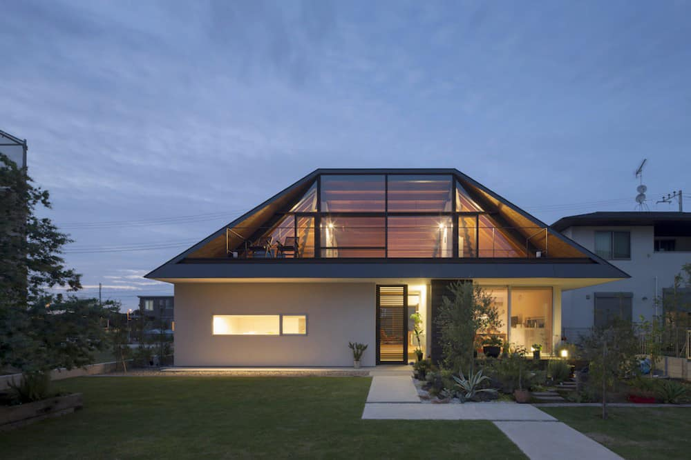 Hipped Glass Roof House   Modern House Designs on Glass House Design Ideas  id=89673