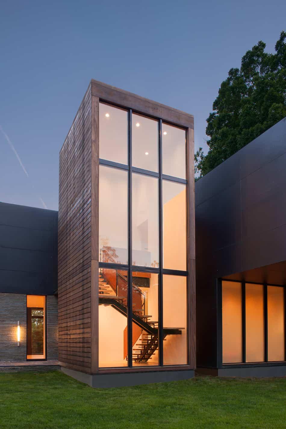 Modern Box House with Interior Glass Bridges | Modern ... on Modern Glass House Design  id=42817