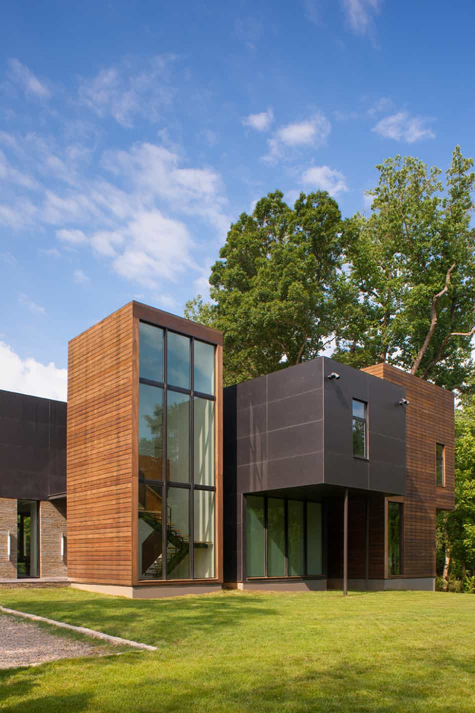 Modern Box House with Interior Glass Bridges | Modern ... on Modern Glass House Design  id=69291