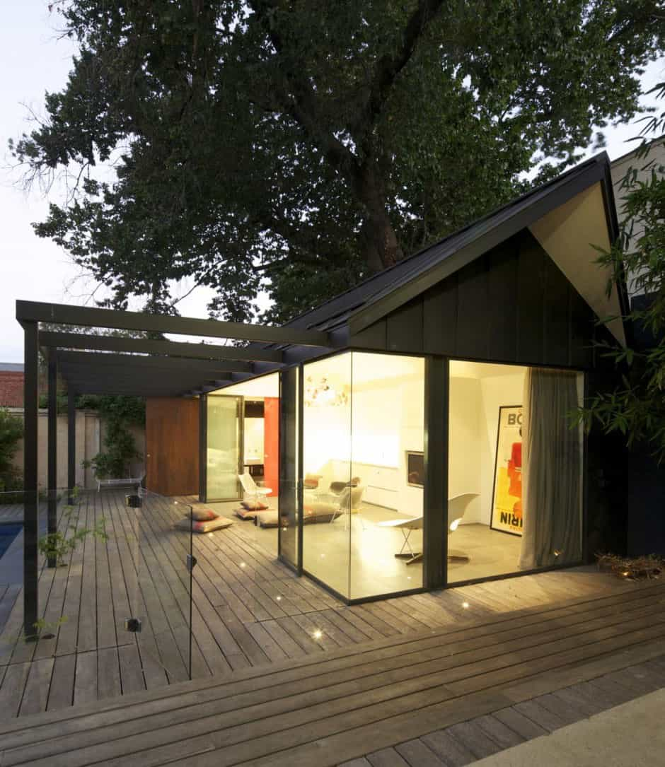 Posh pool house with glass walls   Modern House Designs on Glass House Design Ideas  id=18740