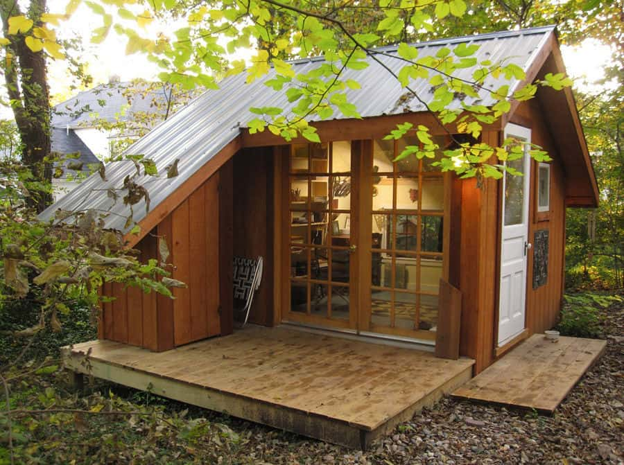 Tiny House - A Backyard Sanctuary in Missouri | Modern ... on Mansion Backyard Ideas id=68095