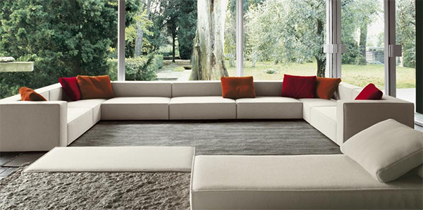 Interior Design Inspiration from Paola Lenti - transparent living room