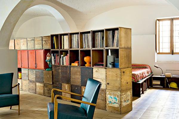 wooden crates modular furniture interior design 3 Small Kitchen Solutions