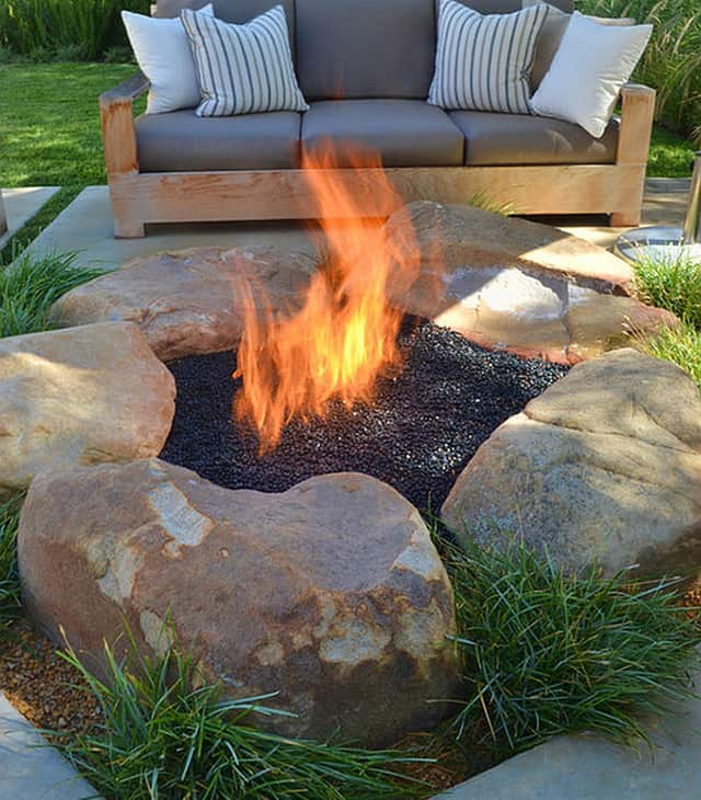 How to Be Creative with Stone Fire Pit Designs: Backyard ... on Fire Pit Design  id=70838