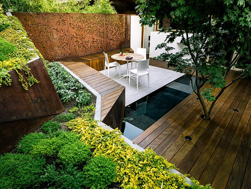 Multi Layered Japanese Style Garden and Sitting Area ... on Small Garden Sitting Area Ideas  id=94124