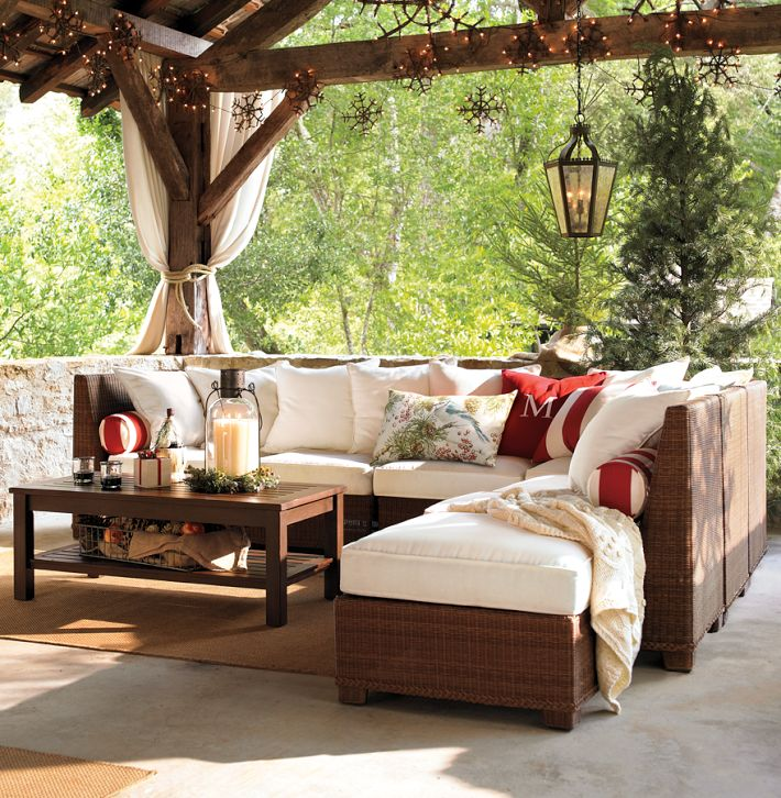 Designing Outdoor Living Room w/ Palmetto Sectional by ... on Outdoor Living Wicker  id=30532
