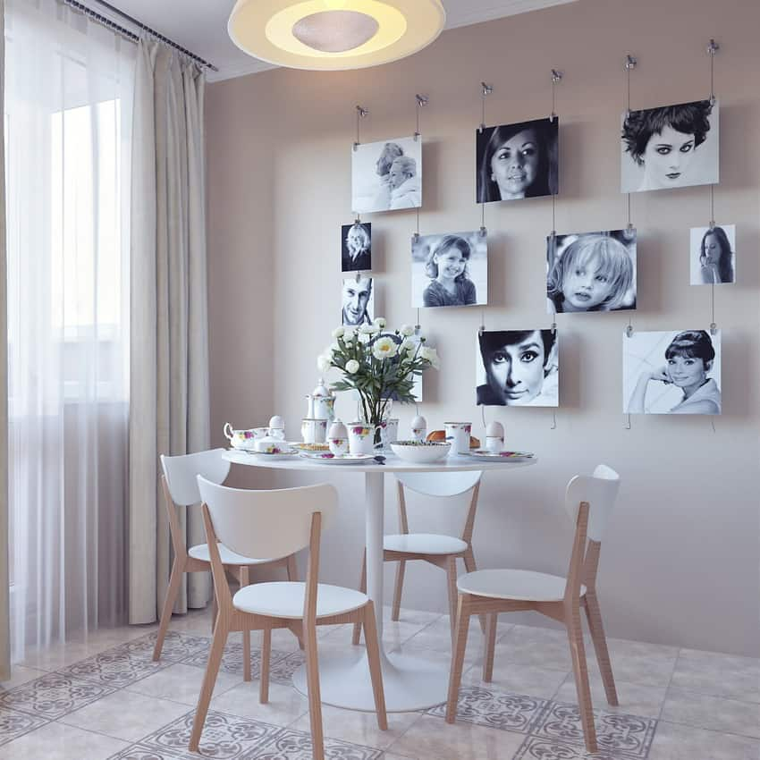 Photo Wall Collage Without Frames: 17 Layout Ideas on Picture Hanging Idea  id=54670