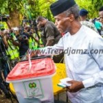 News: See Photos Of VP Osinbajo And Wife Voting In VGC, Lagos (Photos)
