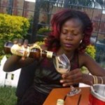 News: Woman Spotted Giving Her Baby Daughter Amarula Alcohol To Drink (Photos)