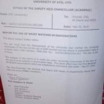 News: University Of Uyo Bans Use Of Wristwatches During Exams (Photo)