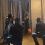 Twin Daughters Of Nigeria's Minister Of State For Health Get Surprise Proposal From Their Boyfriends