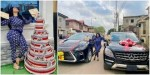 Actress, Omoborty gets huge money cake, car gift alongside one she bought with her money