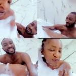 Anita Joseph, Husband Spotted Enjoying A Private Moment In Bathtub (Video)