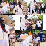 Humility: See how Popular Warri Prophet, Jeremiah Fufeyin kneeled, hugged and blessed an aged widow with 1M Naira [Watch]