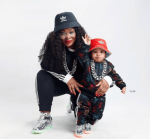 Media Personality, Toolz Reveals Second Baby's Face As He Clocks One [Photos]