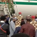 Buhari In Imo: Photos As President Buhari Steps Off The Plane