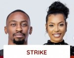 #BBNaija: Saga and Nini have been issued a strike for whispering