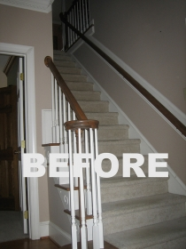 Before Whole House Remodel - Staircase