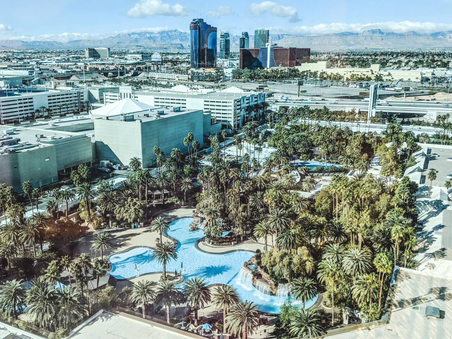 Mirage Hotel Pool View