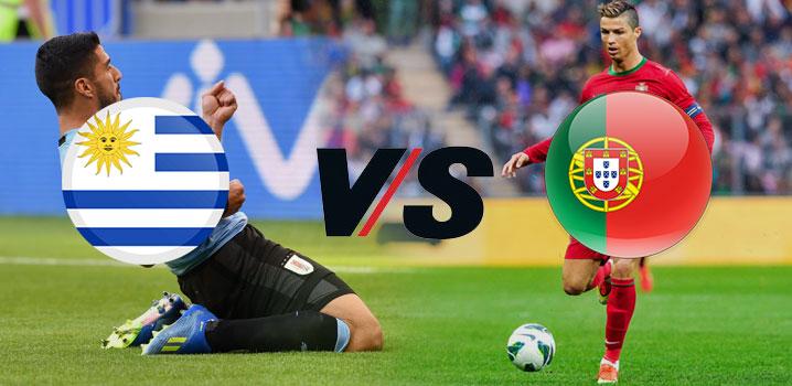 portugal vs uruguay - fifa 2018 world cup - uruguay in quarter finals