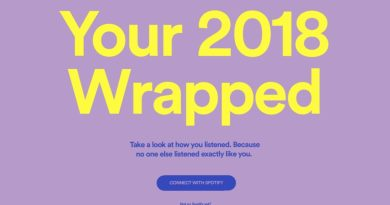 Spotify Wrapped 2018 website