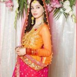 new stylish mehndi dresses collection hairstyle 2013 4