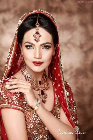 Model Aaminah Sheikhs Stunning Bridal Shoot 2013 Dresses Jewellery and Hairstyles 004
