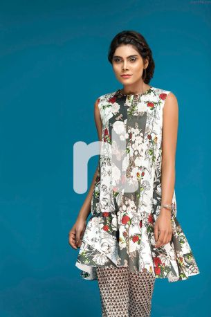 Cambric- Nishat Linen Spring Summer 2017 Best Lawn Dress 4