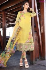 1572-DAISY-YELLOW EMBROIDERED LAWN UNSTITCHED 5,790