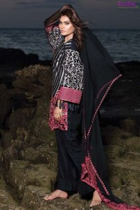 1575-CLASSIC-BLACK EMBROIDERED LAWN UNSTITCHED 5,790