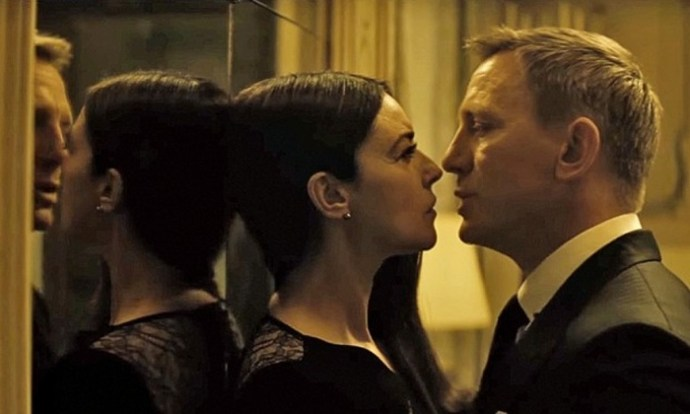 Monica Bellucci and James Bond in Spectre