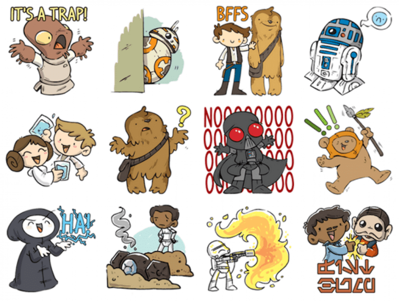 Star Wars Facebook Stickers