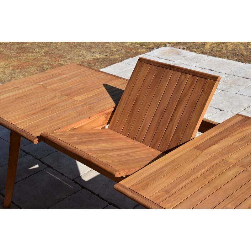 table de jardin en teck massif avec