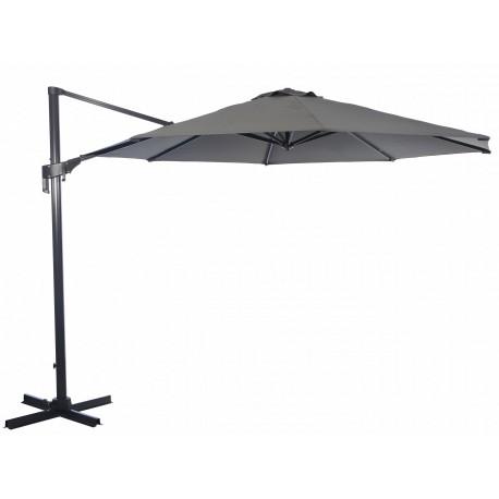 parasol deporte inclinable 350x350 en aluminium gris nh proloisirs