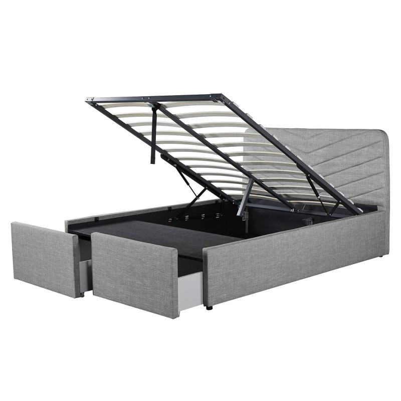 lit coffre avec tete de lit tiroirs en