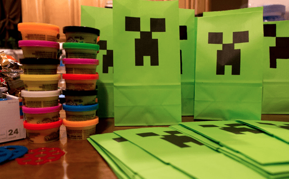 graphic regarding Printable Minecraft Images known as Cost-free Printable Minecraft Celebration Baggage - Attractive Chaos