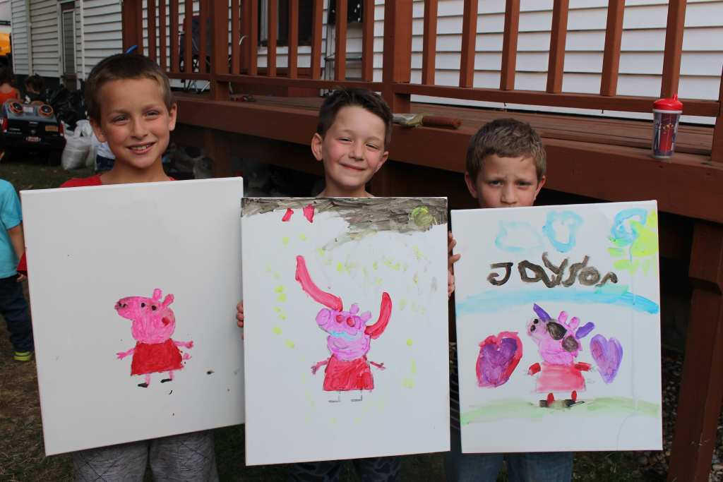 peppa pig painting party